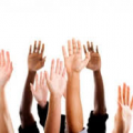 raised hands image